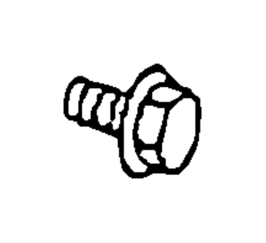 2006 Dodge SPRINTER 3500 Screw. Hex head. [m5x16], m5x16
