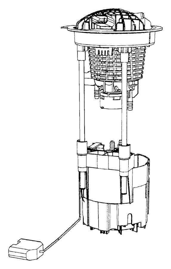 2008 Dodge Ram 1500 Module package. Fuel pump/level unit