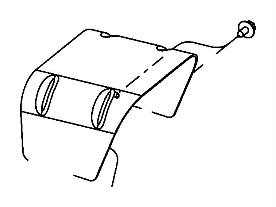 2007 Chrysler Aspen Canister. Vapor. Fuel, tank, gallon