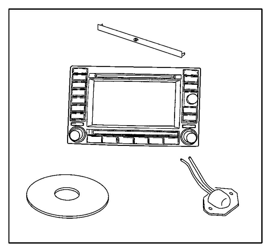 Jeep Grand Cherokee Radio. Am/fm cd w/nav/dvd & cd-ctr