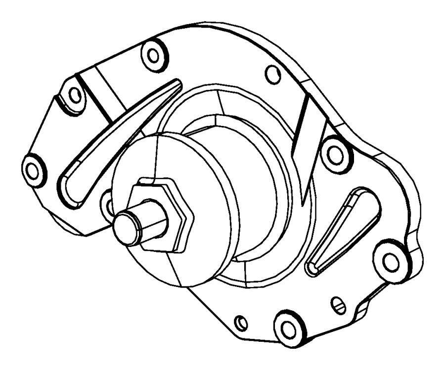 2009 Chrysler Sebring Pump. Water. Related, pulley, gasket