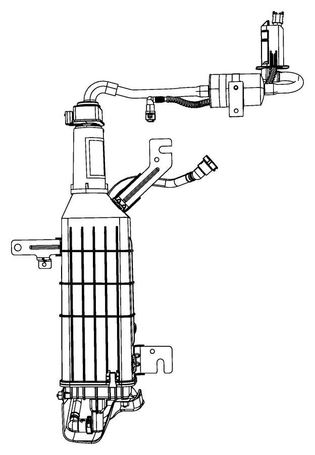 2012 Chrysler Town & Country Bracket. Vapor canister