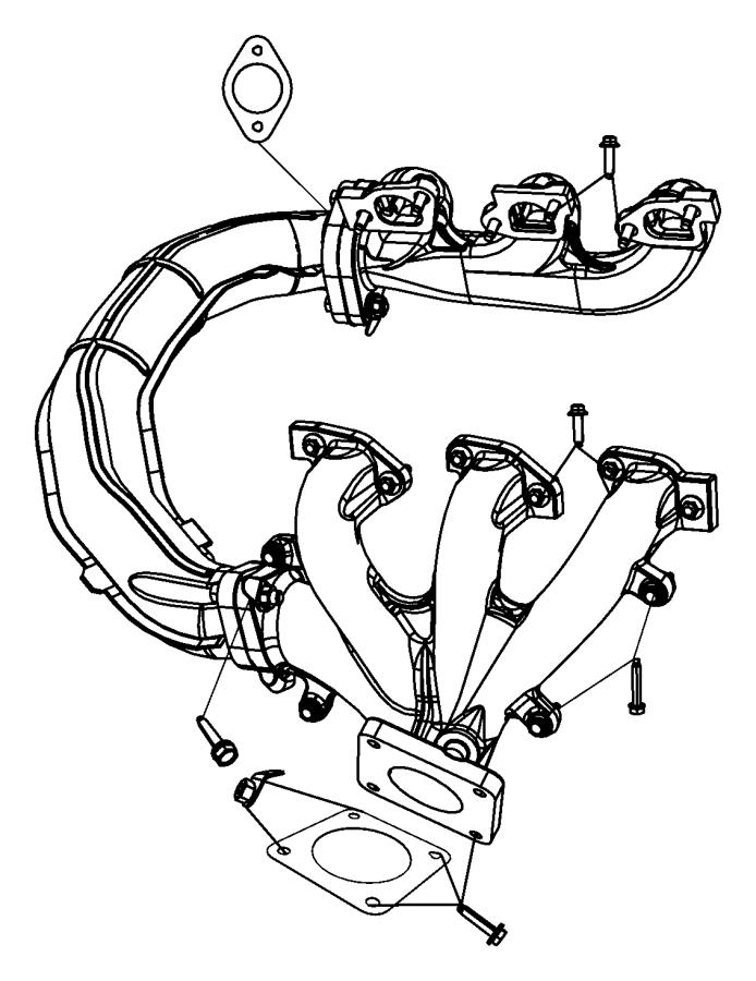 2010 Dodge Grand Caravan Crossover. Exhaust manifold