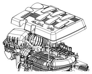 2010 Dodge Grand Caravan Cover Engine  04593793AB | Mopar Parts Inc,