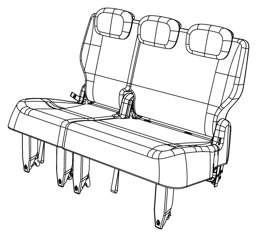 2008 Chrysler Town & Country Panel. Rear seat back. Trim