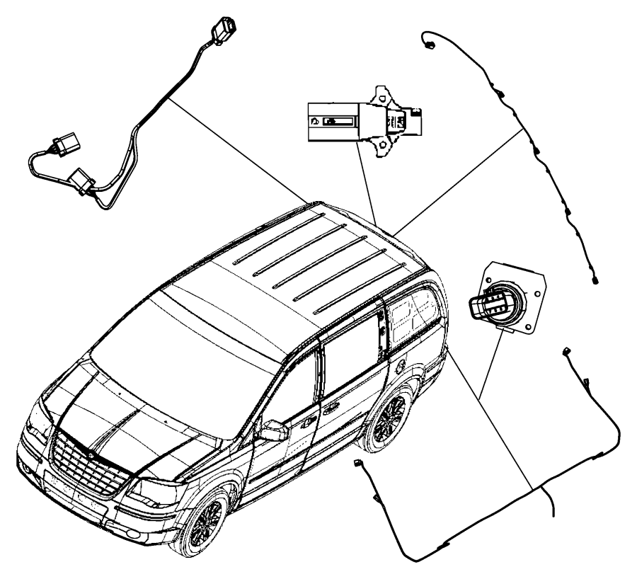 2008 Chrysler Town & Country Wiring. Trailer tow package