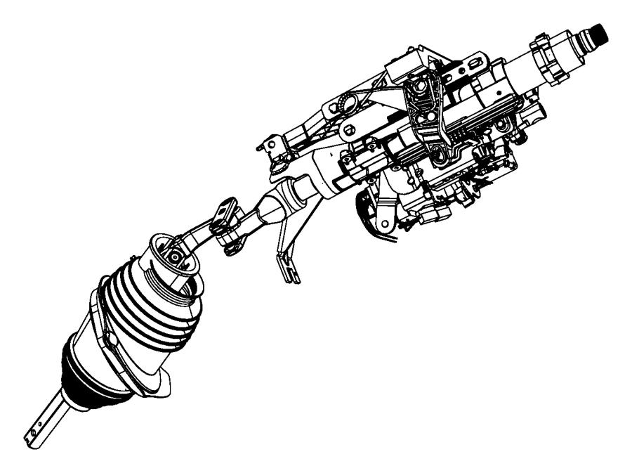 2005 Dodge Magnum Tilt lock package. Manual steering