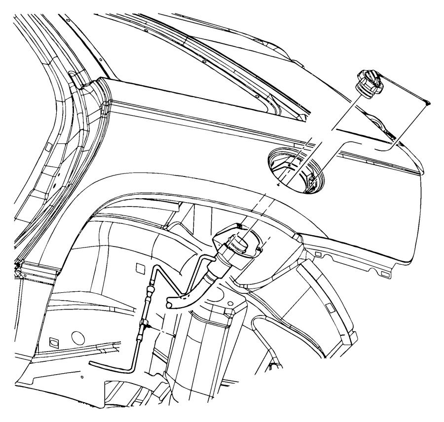 2008 Chrysler Pacifica Tube. Fuel filler. Tank, engine