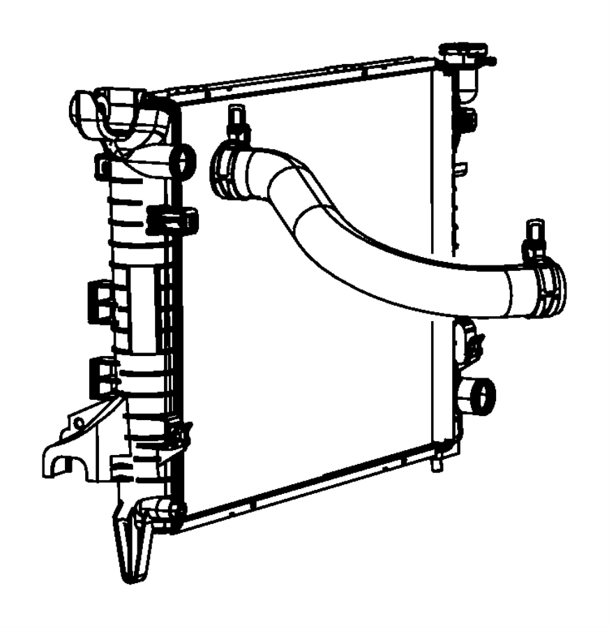 2013 Dodge Ram 1500 Isolator. Radiator. Lower. [[all