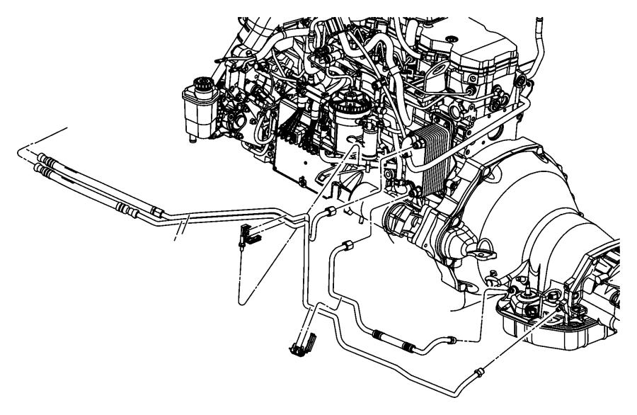 2006 Dodge Ram 2500 Tube. Oil cooler. Pressure. Lines