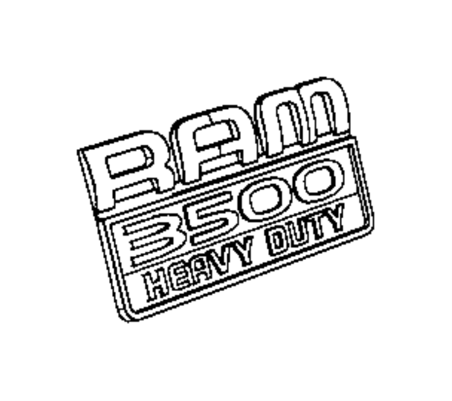 2012 Dodge Ram 3500 Nameplate. [ram 3500 badge], [ram 3500