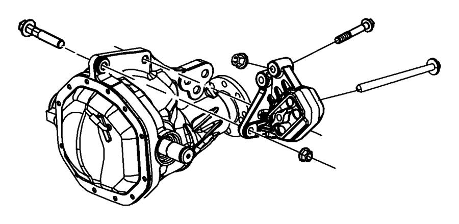 2008 Dodge Ram 1500 Insulator. Engine mount. Left