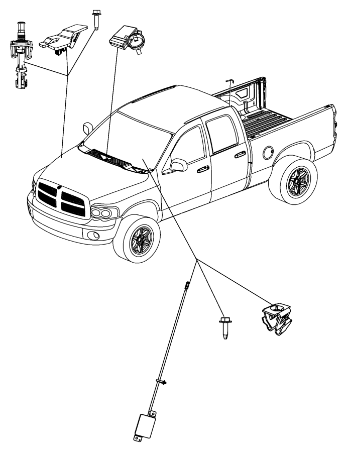2008 Dodge Ram 1500 Module. Control module. Remote, system
