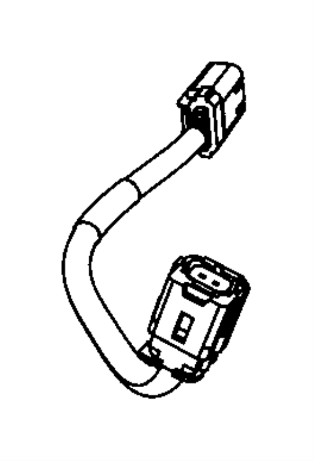 2007 Dodge NITRO Wiring. Jumper. Impact sensor. Front