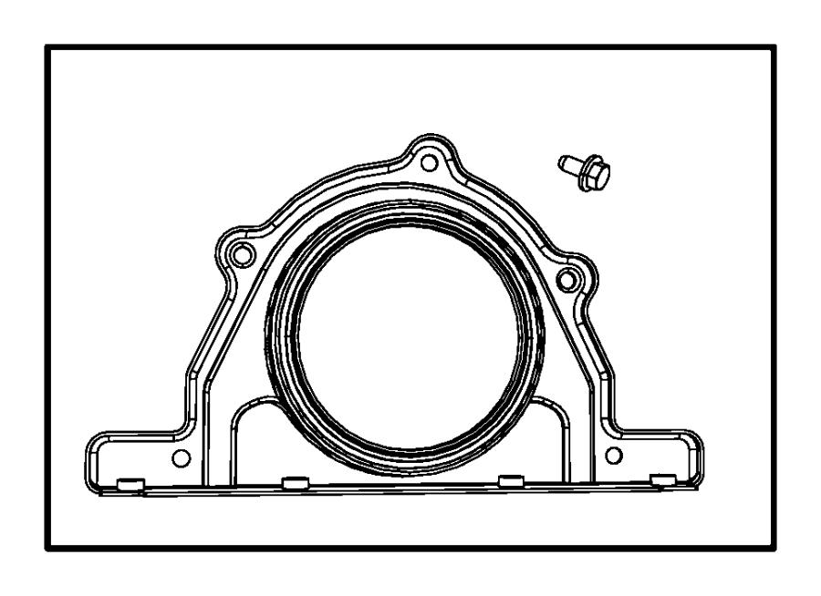 2016 Dodge Charger Retainer. Crankshaft rear oil seal