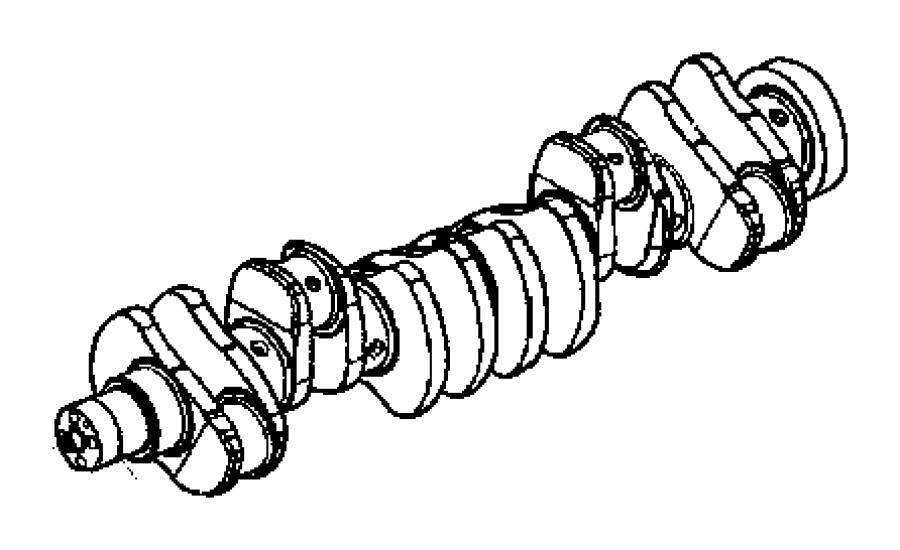 2012 Dodge Ram 5500 Crankshaft. Automatic transmission