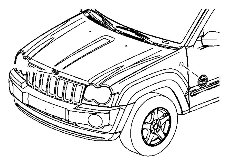 2007 Jeep Commander Nameplate. Door. [rocky mountain