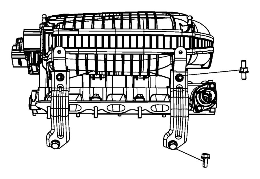 2008 Chrysler Town & Country Bracket. Intake manifold