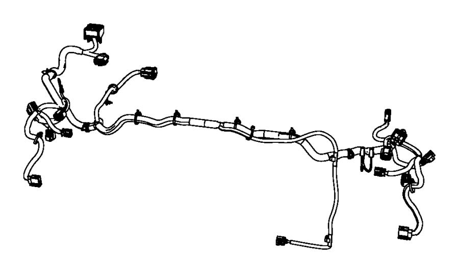 2008 Jeep Wrangler Wiring. Headlamp. Export. Front