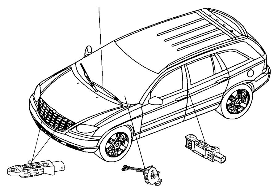 2007 Chrysler Pacifica Clockspring. [automatic headlamps