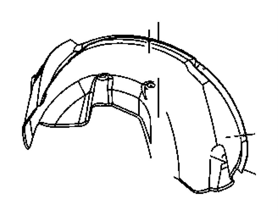 2008 Dodge Durango Shield. Splash. Left. Front, fender
