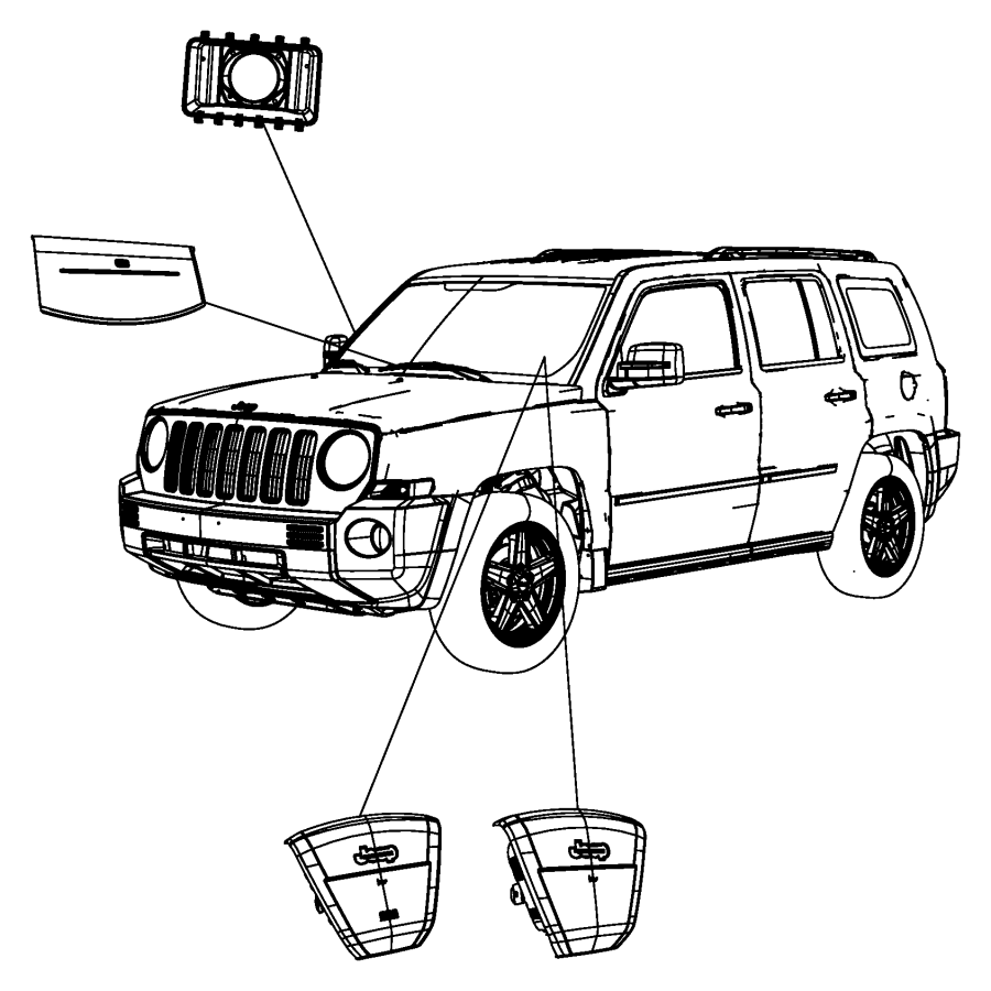2008 Jeep Patriot Air bag. Passenger. [next gen multistage