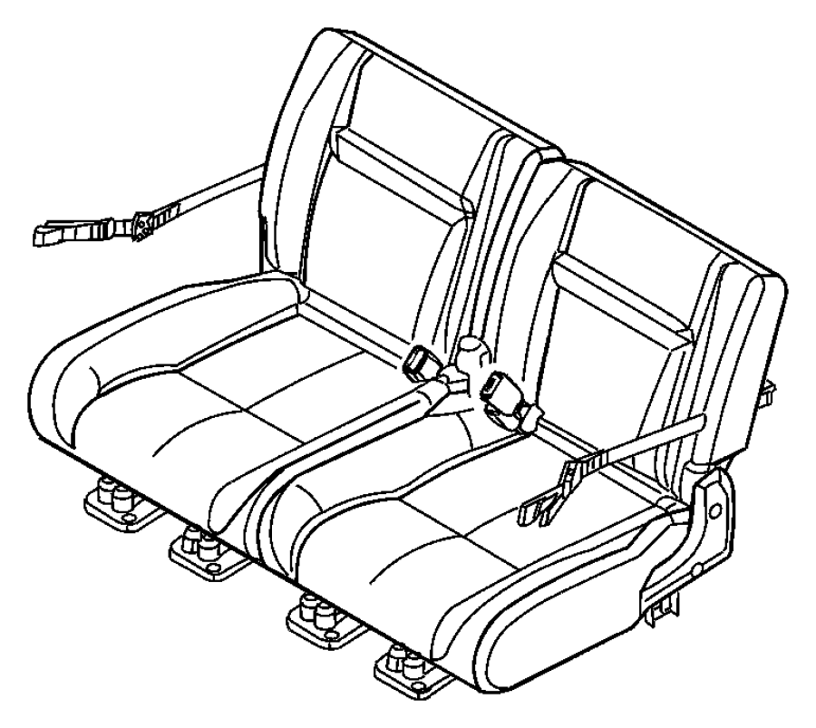 2007 Chrysler PT Cruiser Seat belt. Rear. Trim: [cloth low