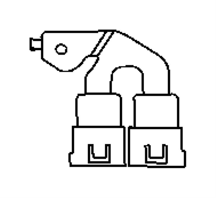 Chrysler PT Cruiser Relay. Mini, radiator fan. [headlamp