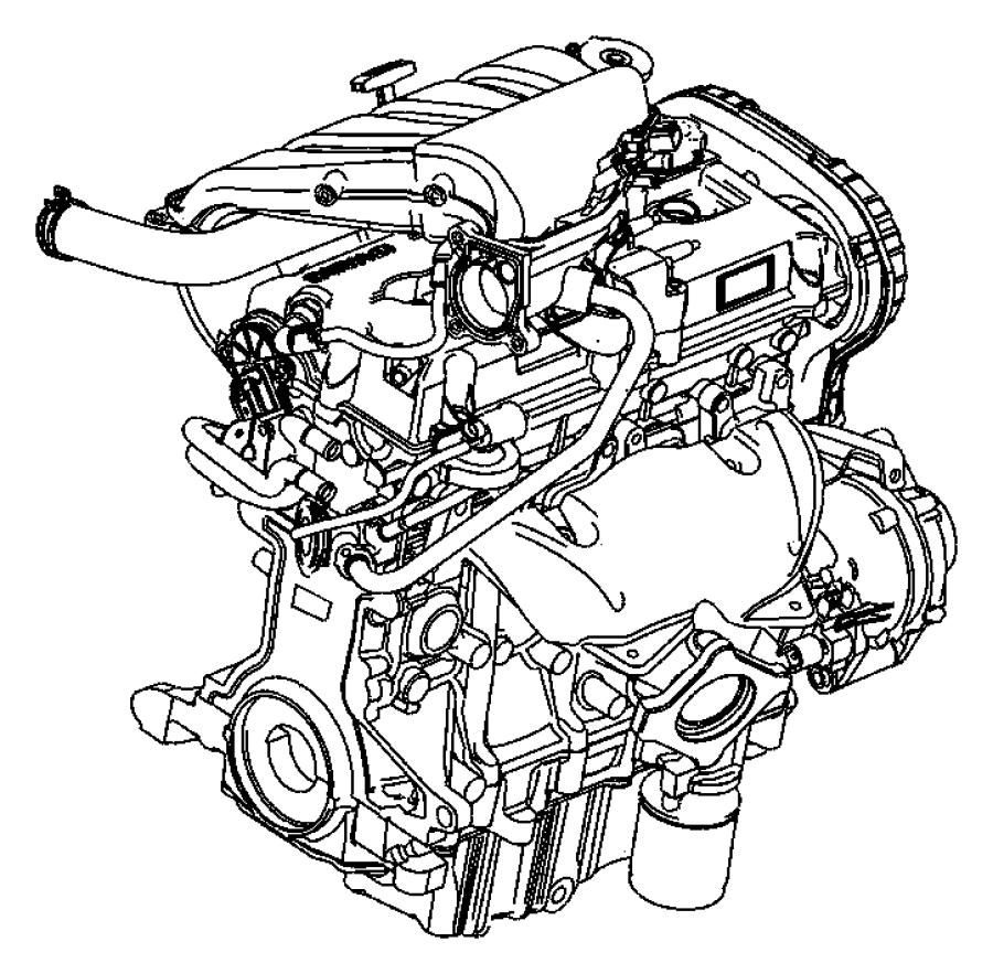 2009 Chrysler PT Cruiser Engine. Long block