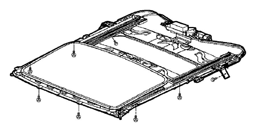 2005 Chrysler PT Cruiser Frame. Sunroof. Trim: [all trim