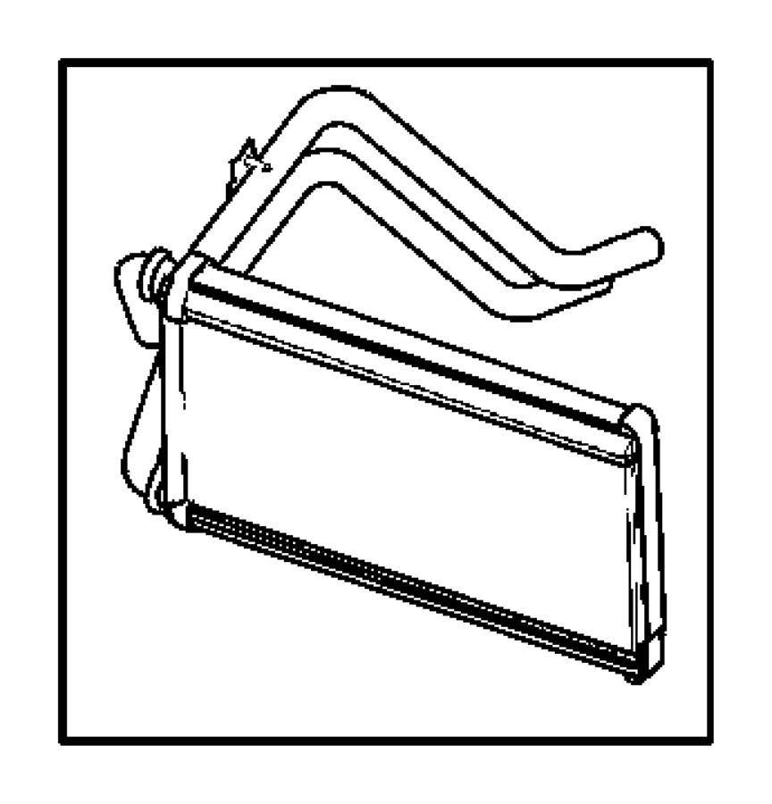 2007 Dodge Caliber Core. Heater. Panel, module, instrument