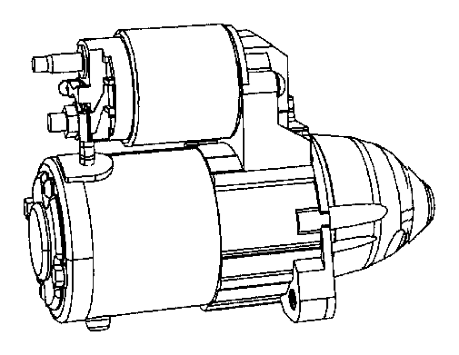 2012 Jeep Patriot Starter. Engine. Remanufactured. [power