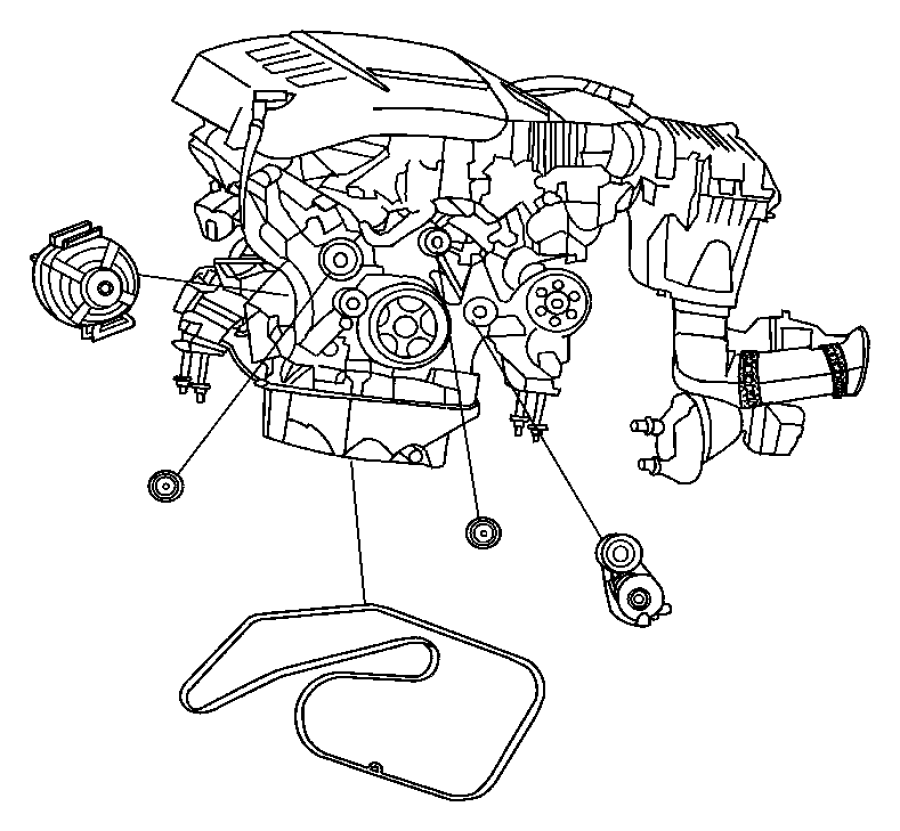Dodge SPRINTER 3500 Pulley. Alternator. Related, diesel