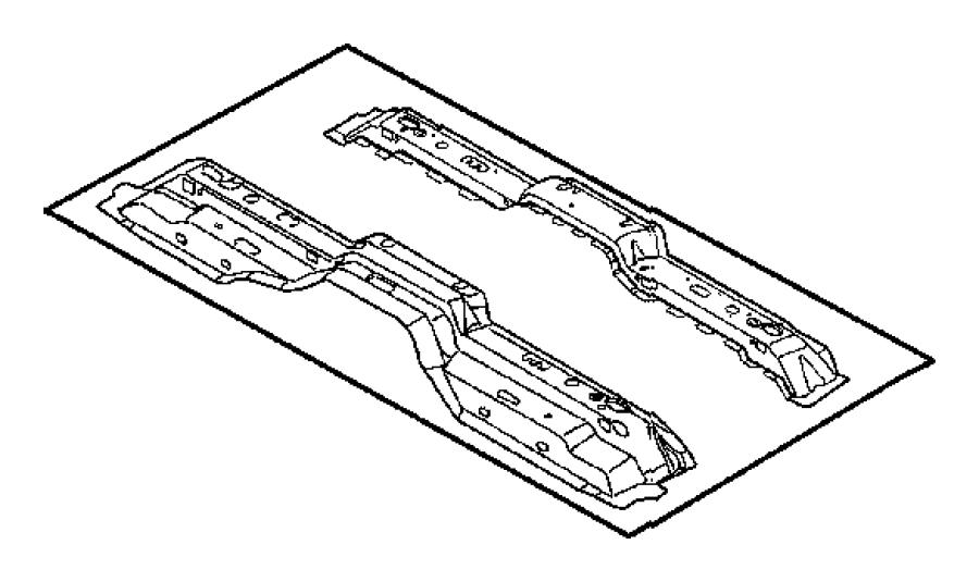2010 Dodge Dakota Crossmember. Floor pan. Right. Cab, quad