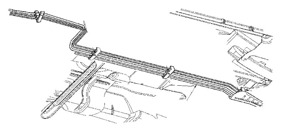 2006 Dodge Charger Tube. Vapor. After 5/12/05. Fuel, lines