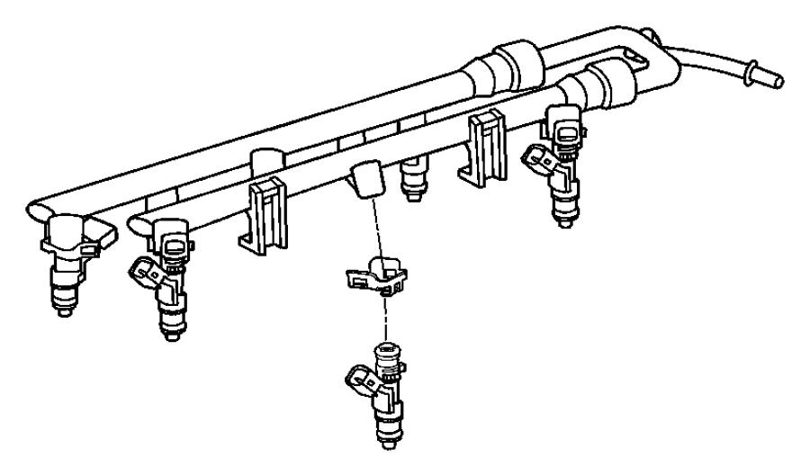 2010 Dodge Journey O ring kit. Fuel injector. Litre