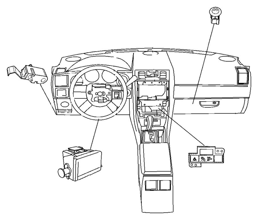2015 Dodge Challenger Switch. Parking brake. Dec, dfe, dfl