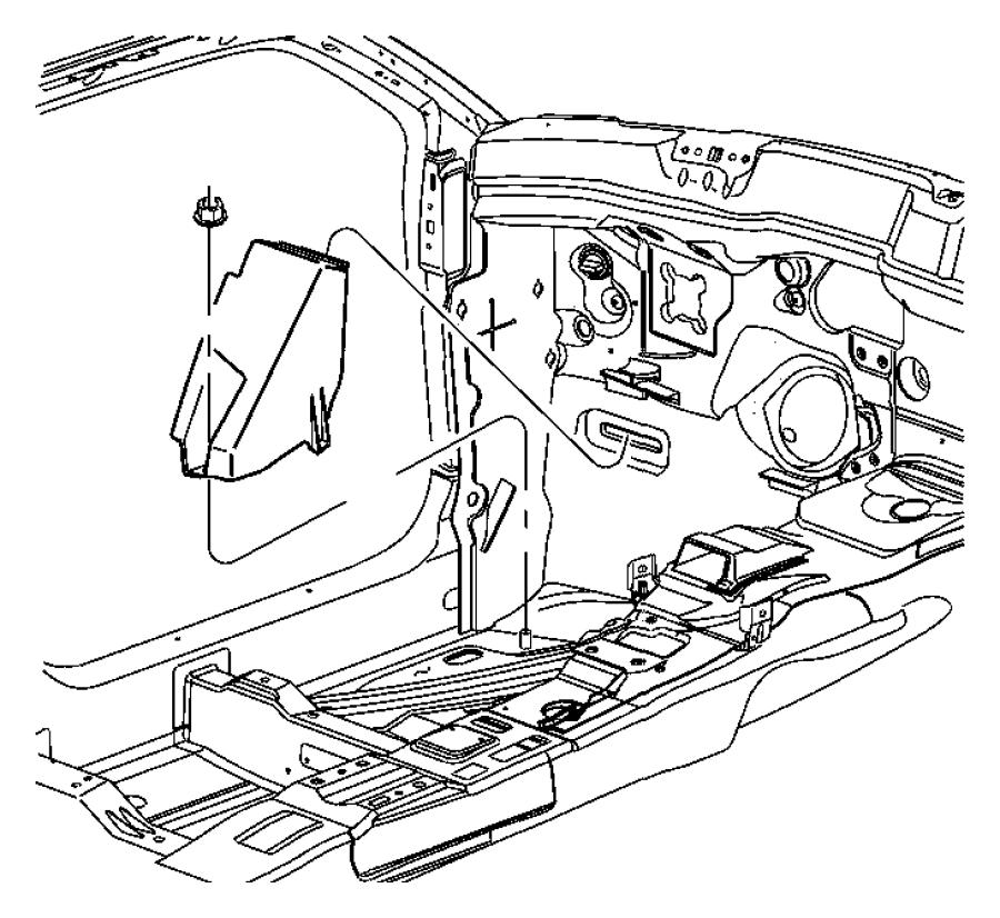 2013 Chrysler 300 Support. Footrest. Left. Case