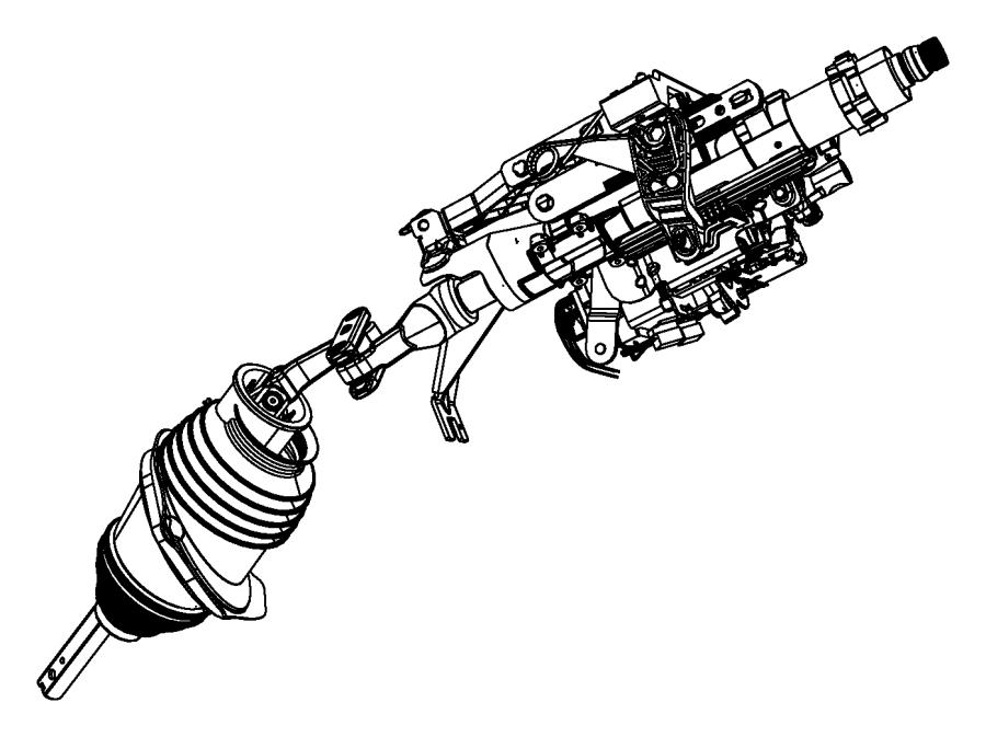 2008 Dodge Charger Column. Steering. Tilt, module, shift