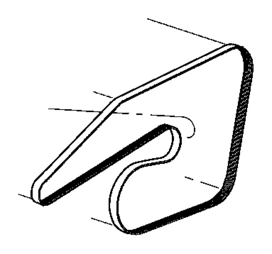 2009 Chrysler 300 Belt. Accessory drive, serpentine. [6.1l