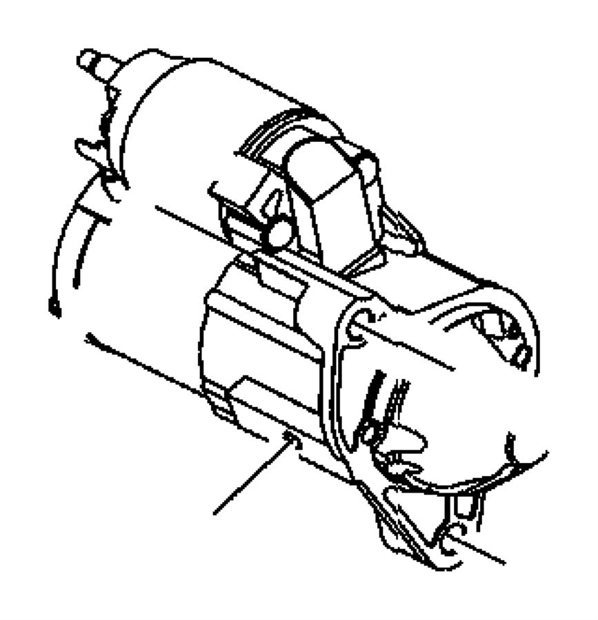 Jeep Commander Starter. Engine. Shield, maintenance