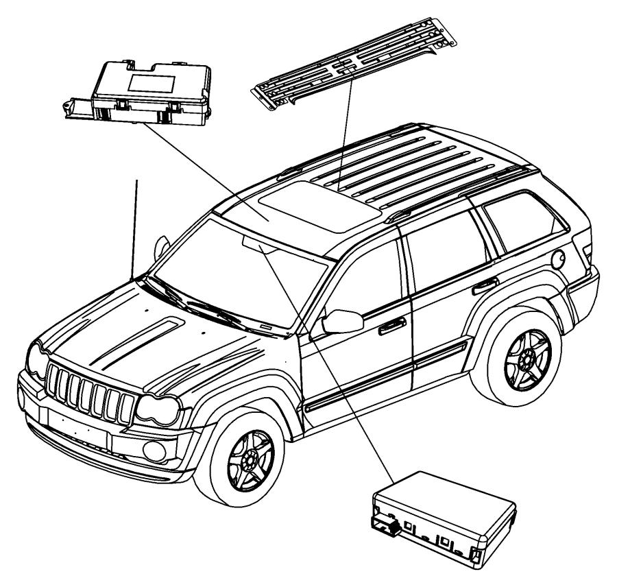 2007 Jeep Commander Module. Rain sensor. After 02/10/09