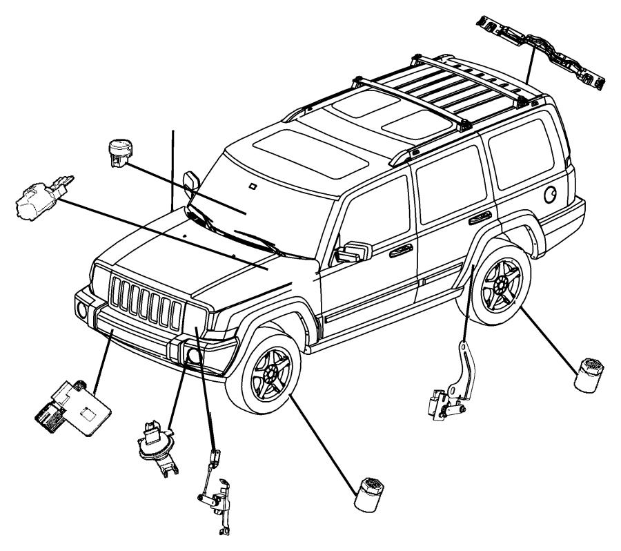 2013 Jeep Grand Cherokee Sensor. Sun. Export. Controlstop