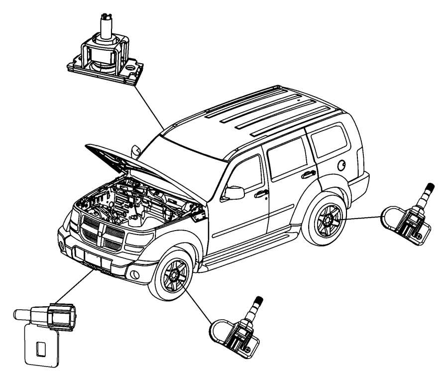 2006 Dodge Magnum Sensor. Ambient temperature