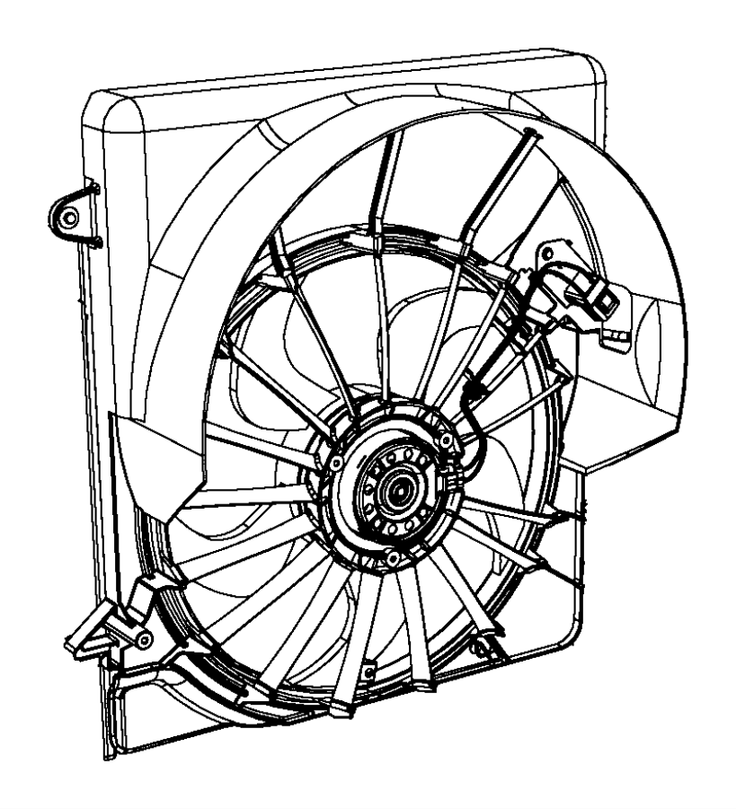 2009 Dodge NITRO Wiring. Fan motor. Contains resistor, kit