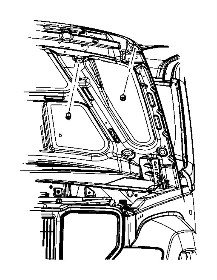 2010 Jeep Liberty Bumper. Door ajar switch. Security