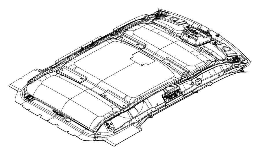 2009 Jeep Liberty Headliner. Trim: [all trim codes] color