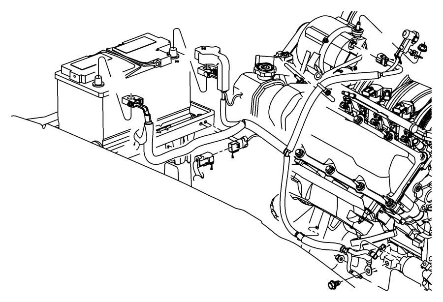 Jeep Grand Cherokee Wiring. Alternator and battery. Tray
