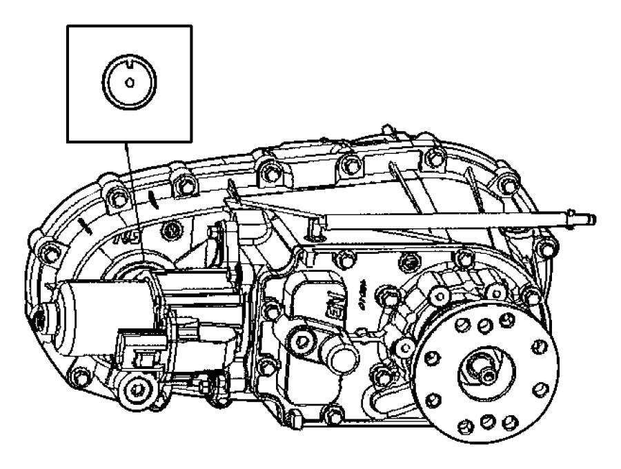 2011 Dodge NITRO Flange. Driveshaft yoke. Rear. Output