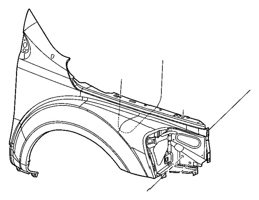 2007 Chrysler Aspen Panel. Fender. Right. Front